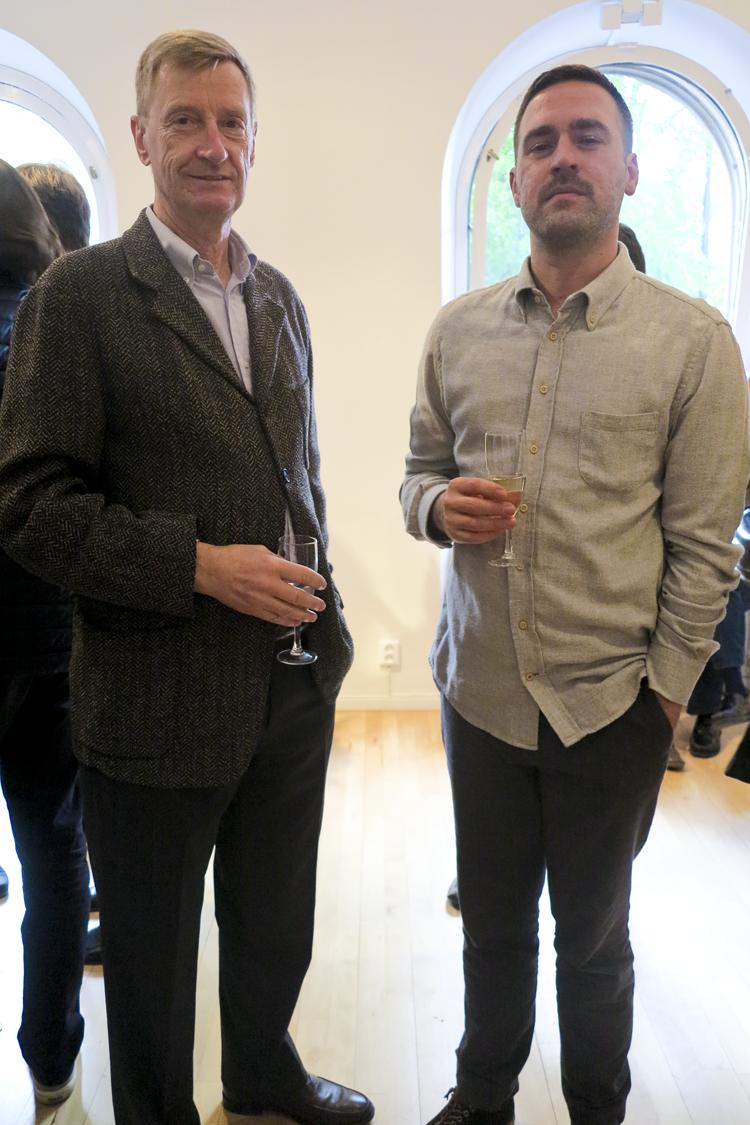 Peter Andersson tillsammans med konstnären Karl Norin