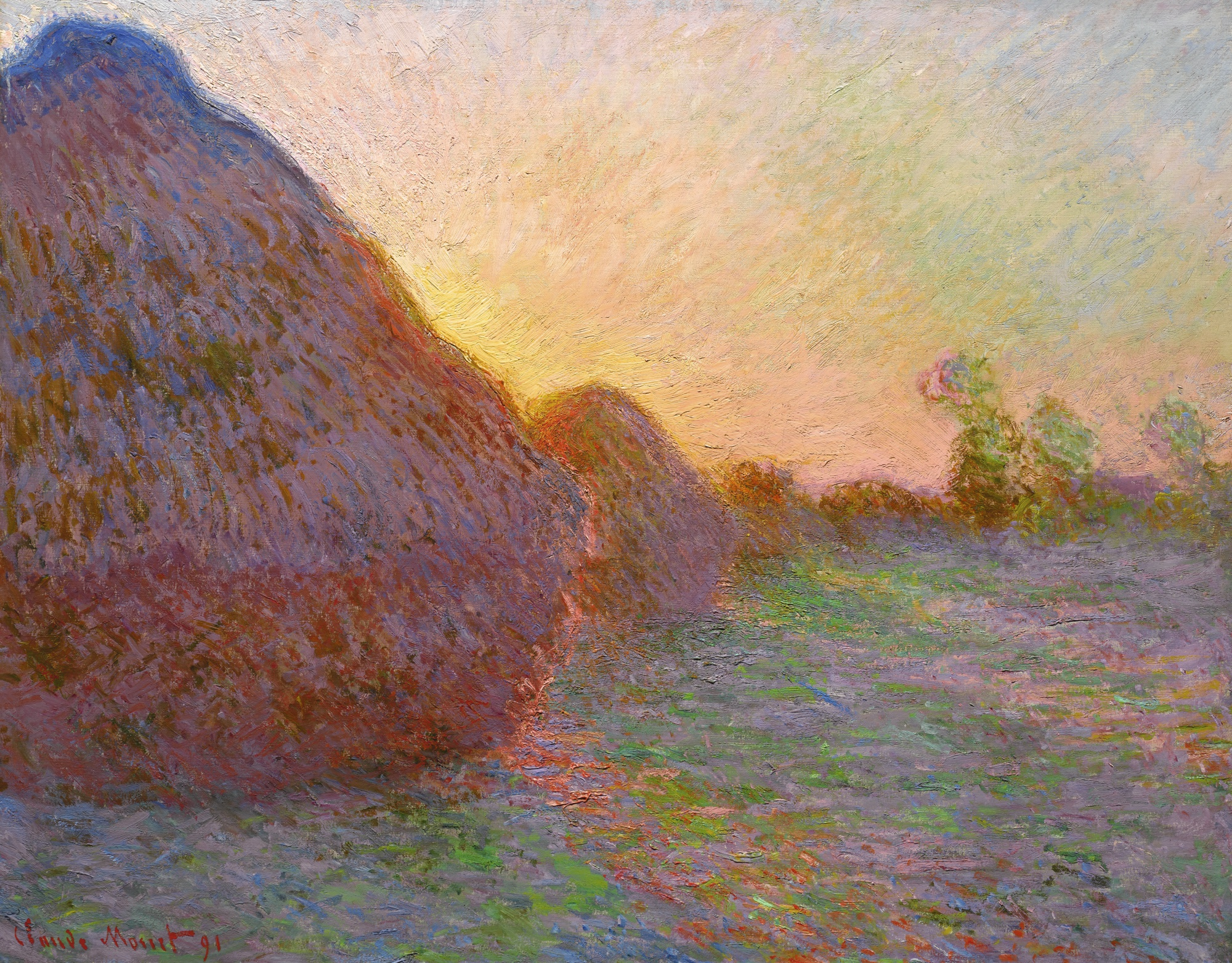Meules, Claude Monet. 1890, oil on canvas. Image: Sotheby's