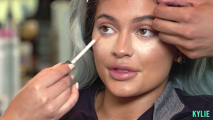 Instagram famous Kyle Jenner famed for her makeup tutorials which Beavers has recreated in her satirical series Image via thekyliejenner.com