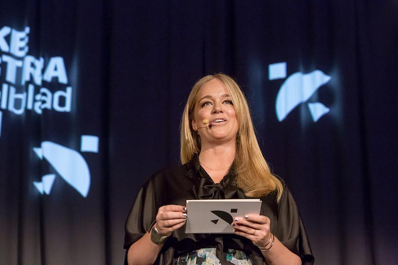 Kvällens konferencier för Hasselblad Award 2017 Ebba von Sydow