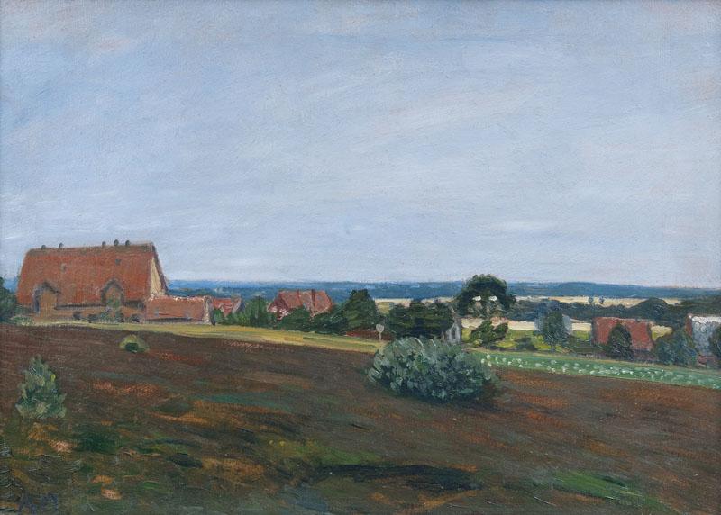 OTTO MODERSOHN (1865 Soest - 1943 Fischerhude) - Norddeutsche Landschaft, Öl/Karton, datiert, 1907