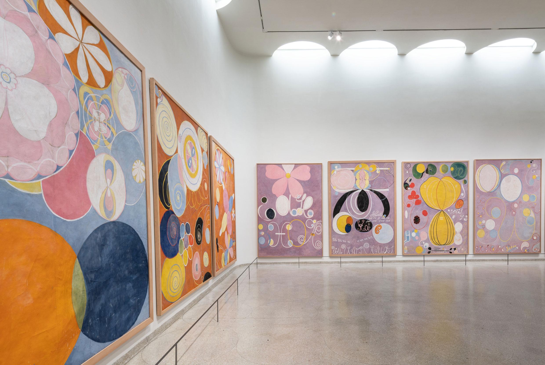 Hilma af Klint paintings at the Guggenheim. Image: The Guggenheim