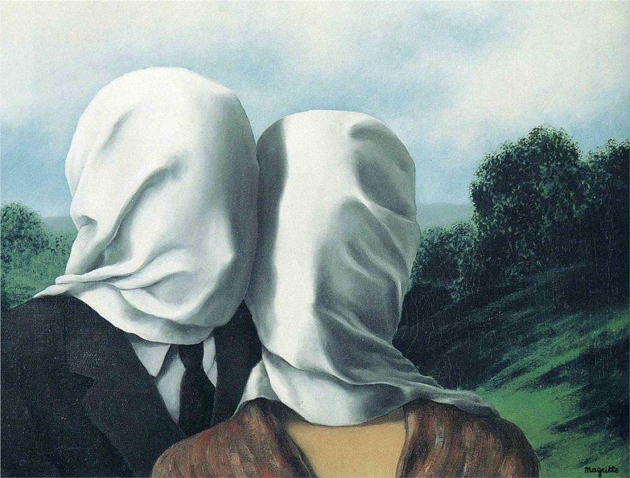 René Magritte, Die Liebenden I, 1928 | Abb. via renemagritte.org