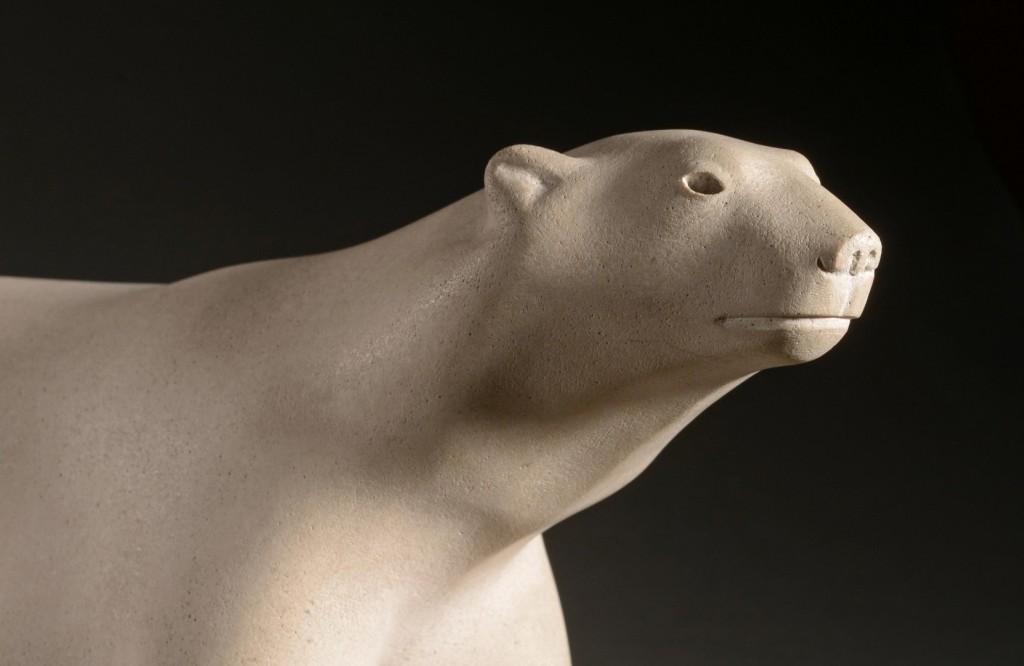 « Ours Blanc » détail, 1927, pierre de lens