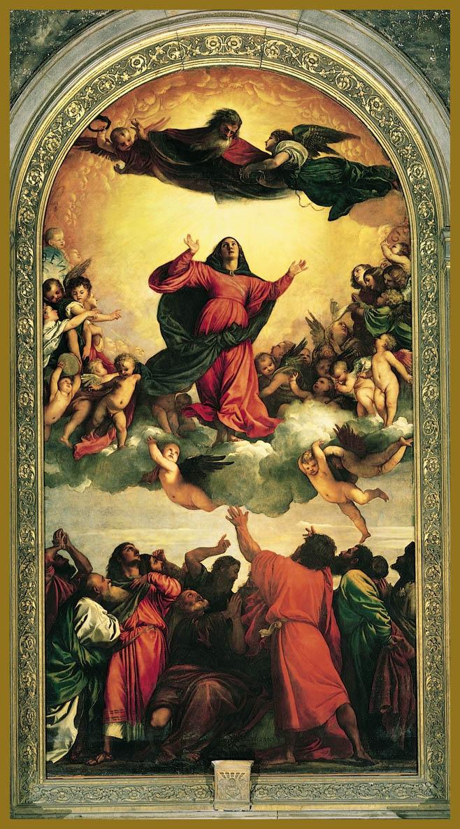TIZIANO VECELLIO. La Asunción de la Virgen. Basílica de Santa María Gloriosa dei Frari. Venecia