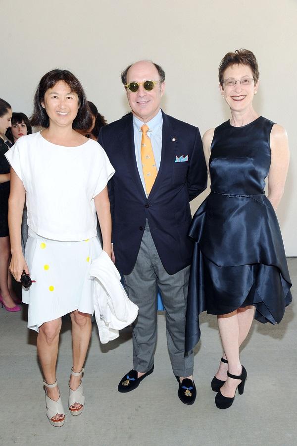 Maya Lin, Peter Haveles, Jr. and Terrie Sultan, director of Parrish Art Museum