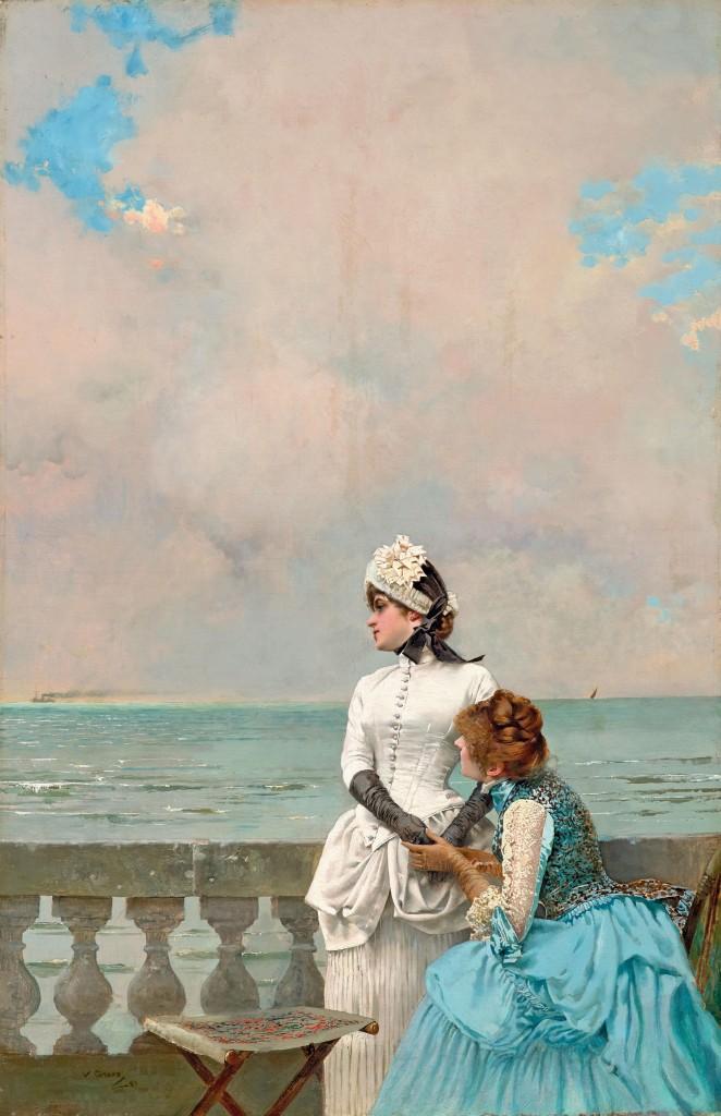 VITTORIO MATTEO CORCOS (1859 Livorno - 1933 Florenz) - Dis-mois tout!, Öl/Lwd., signiert und datiert, 1883