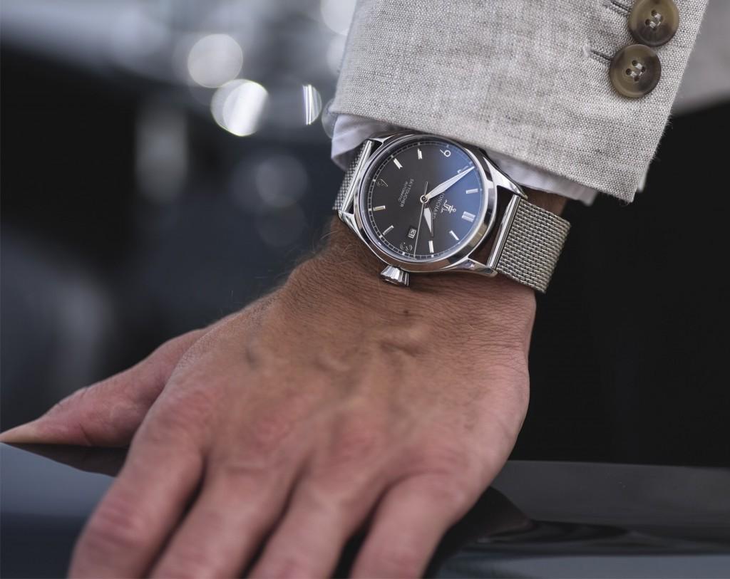 Todays Wristshot: Monchard Watches Skytoucher Automatic on a meshstrap.