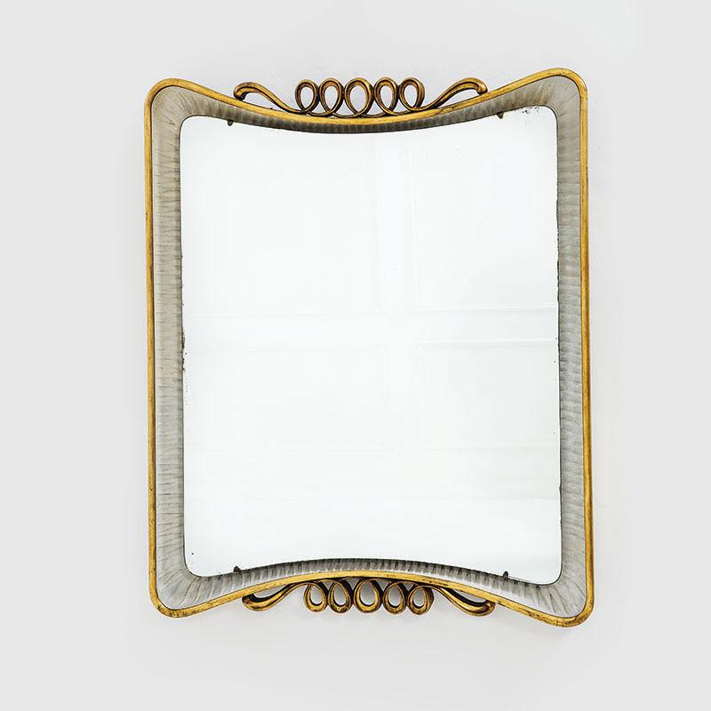 Osvaldo Borsani, rare miroir rétroéclairé, prod. Arredamenti Borsani, ca. 1946