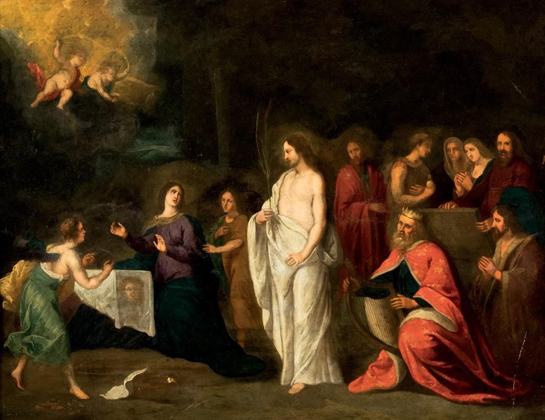 Jesus återuppståndelse, 1700-tal. Foto: Duran Arté y Subastas.