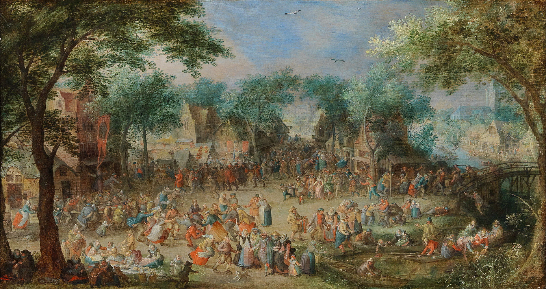 DAVID VINCKBOONS (1576 Micheln - um 1632 Amsterdam) - Kirchweihfest des heiligen Georg, Öl/Holz