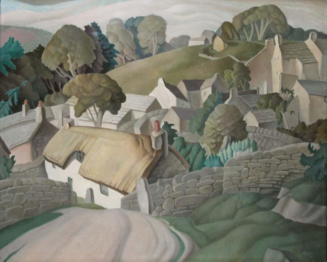Harry Epworth Allen RBA, 1894-1958, A Country Village, Schätzpreis: €3000 - €5000 48 x 61cm, signiert, Lot 3