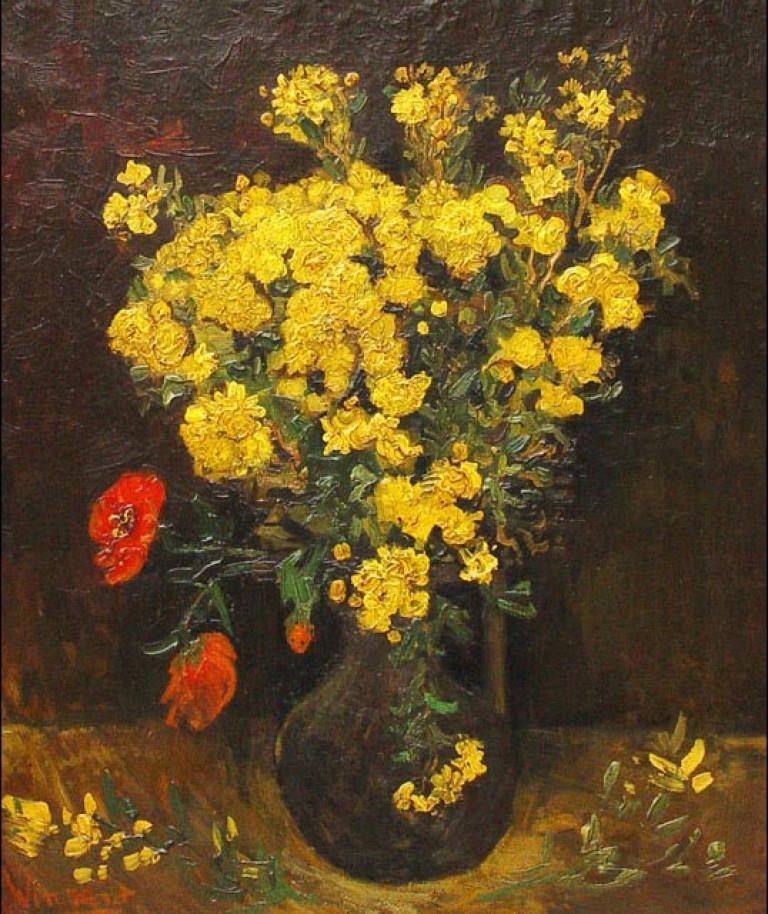 Vincent Van Gogh, Fleurs de pavot, 1887, huile sur toile