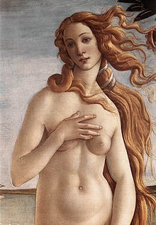 Détail de La naissance de Vénus, Sandro Botticelli (1484 - 1486) Florence, Galerie des Offices