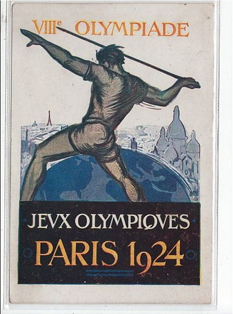 Olympiade de Paris 1924 (sports - lancer de javelot) Clément Maréchal Prix fixe: 90 €