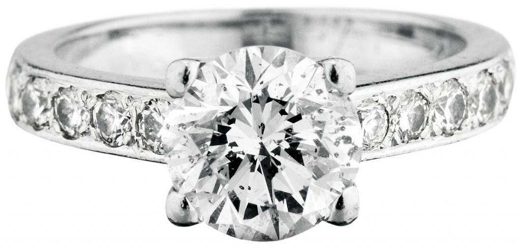Ring aus WG mit 11 Brillanten (zus. ca. 2,71 ct)