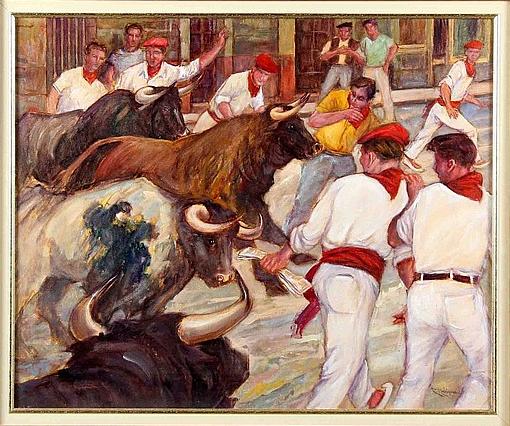 """Rodríguez, """"Encierro de San Fermín"""" Estimation basse: 250 euros"""