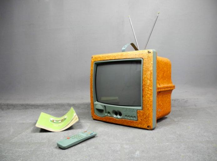 Philippe Starck for SABA, Portable TV Jim Nature, 1994. Photo: Catawiki