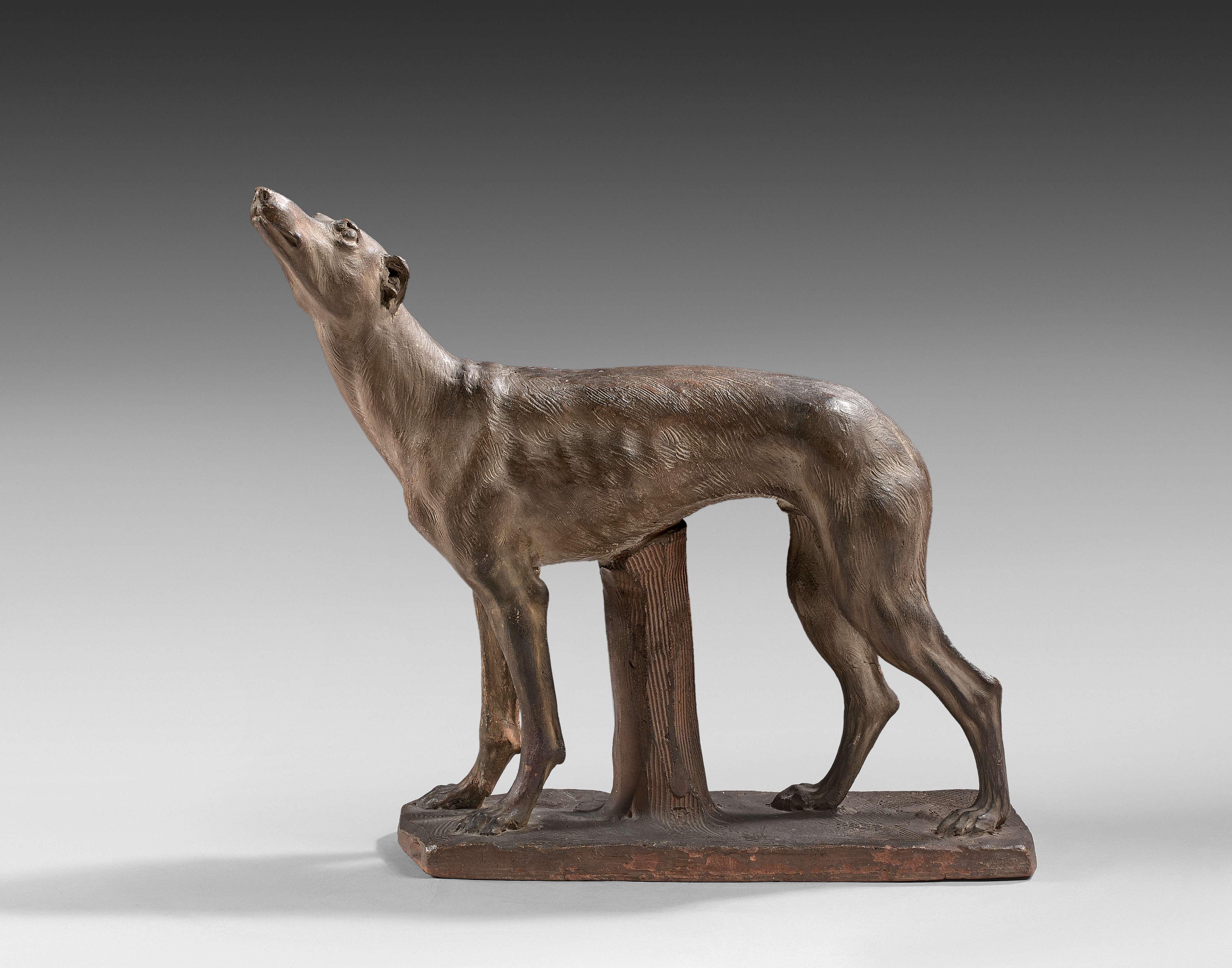 Attributed to Jean-Antoine Houdon, 'Greyhound', 1828. Photo: Artcurial