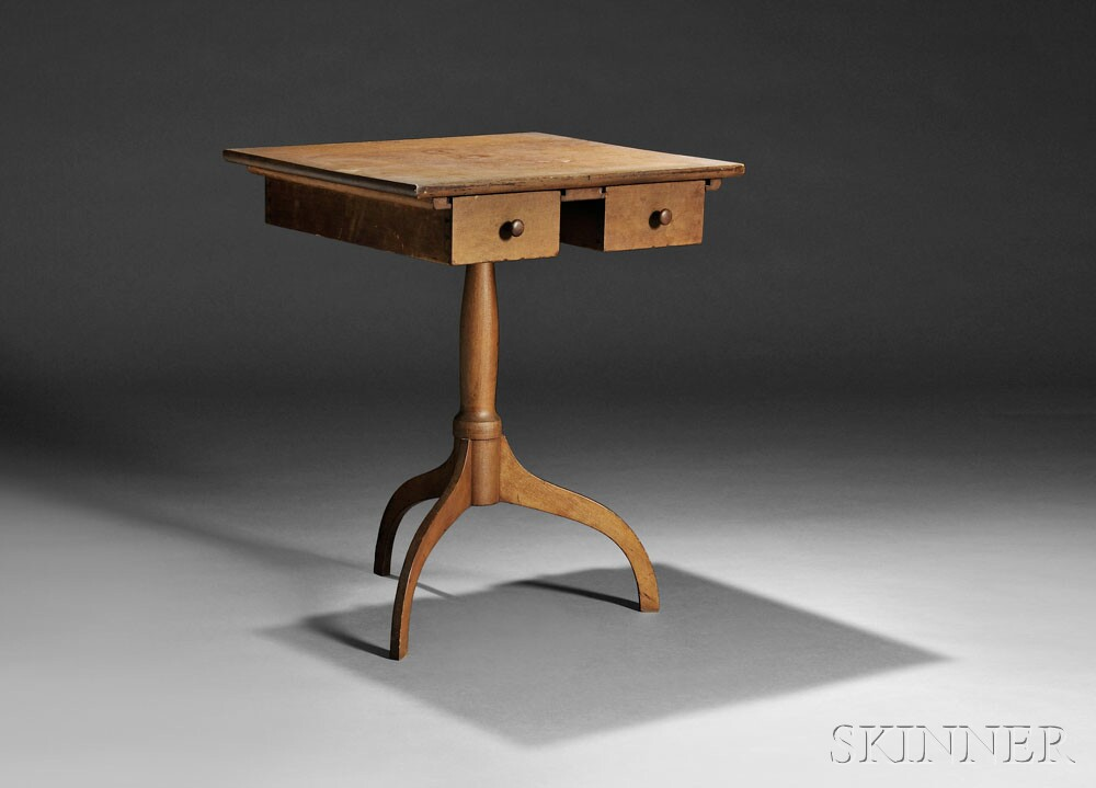 Shaker Maple and Cherry Stand, Hancock, Massachusetts, or Enfield, Connecticut, c. 1850 (Lot 66, Estimate $10,000-$15,000)