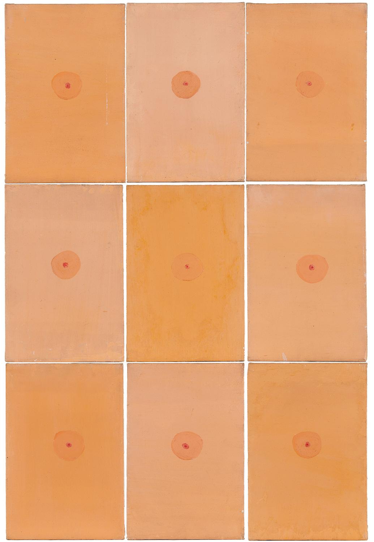 Jim Dine, 9 Little Flesh Paintings. 1959-60, acrylic on canvas.