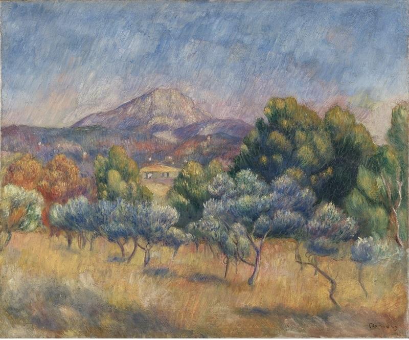 PIERRE-AUGUSTE RENOIR. La Montaña de Sainte-Victoire (1888-1889). © Yale University Art Gallery
