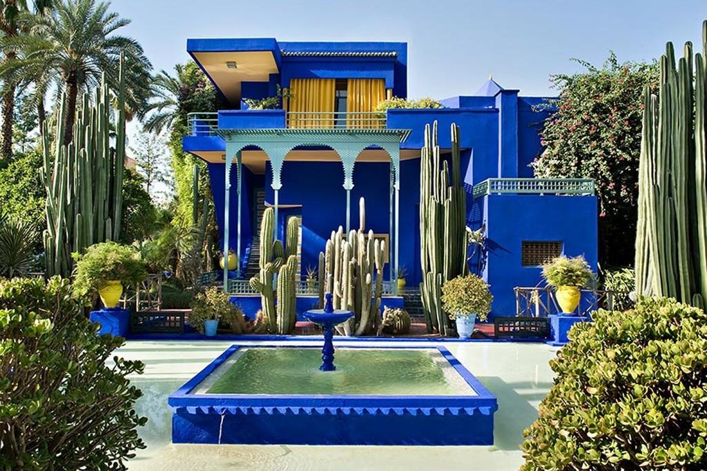 Le jardin Majorelle à Marrakech, in Marocco, image via magazineantidote.