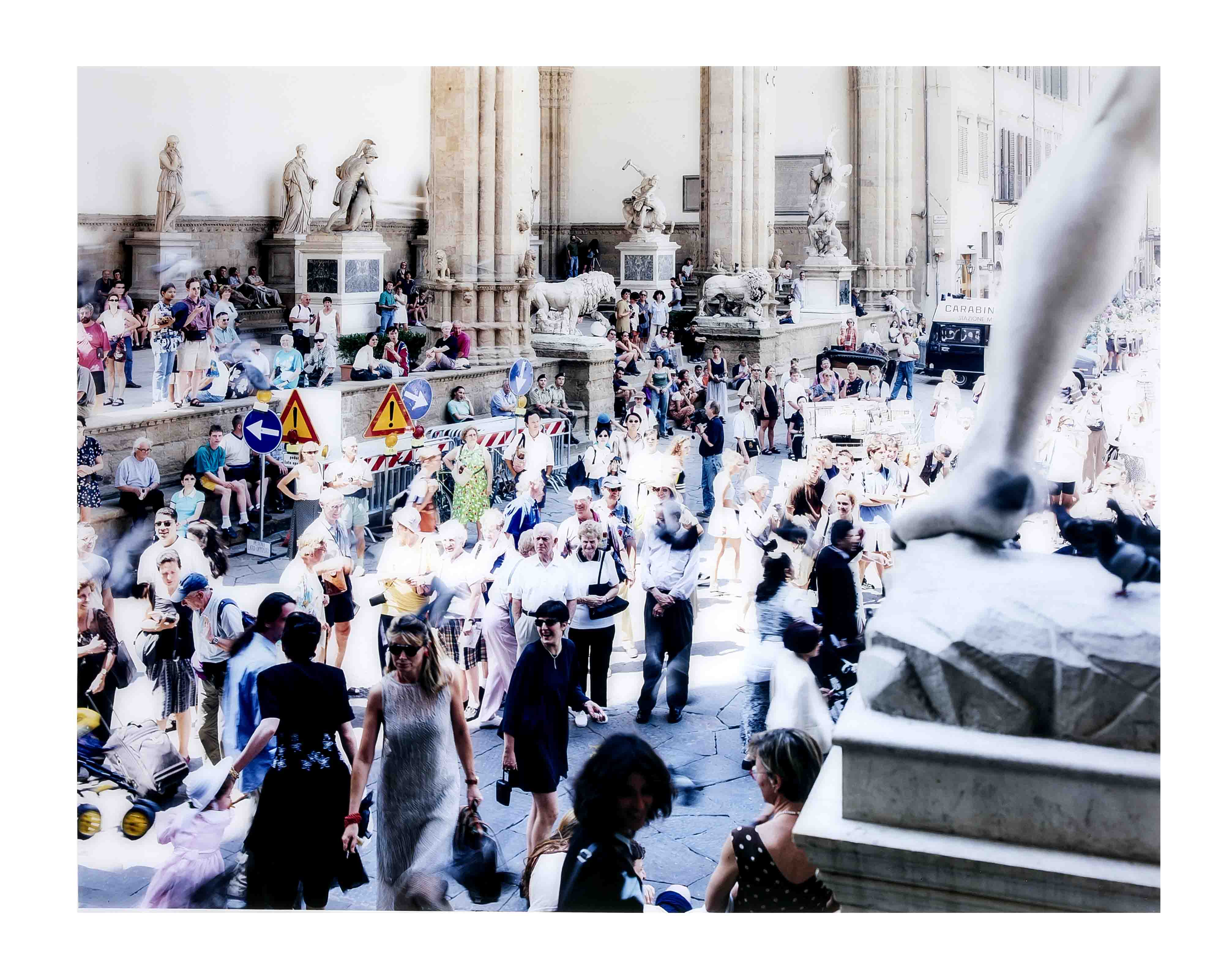 MASSIMO VITALI (*1944) - Loggia dei Lanzi in Florenz, C-Print Diasec/Aluminium, Italien 1998