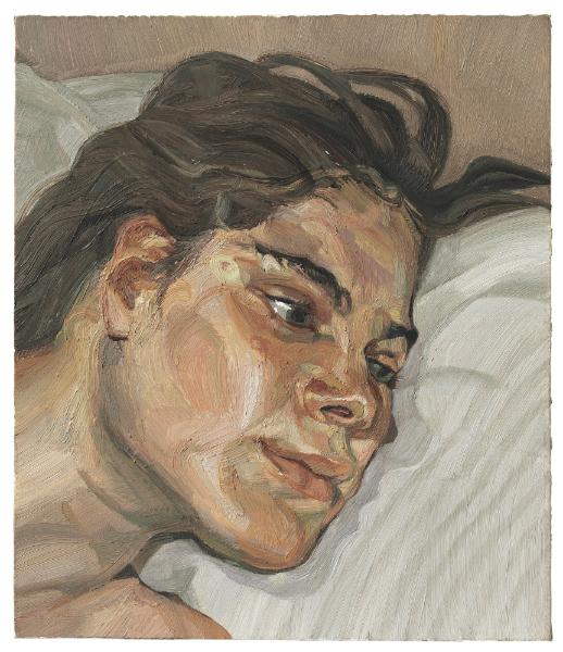 Lucian Freud, Head of Esther, 1982-1983 Image via Christie's