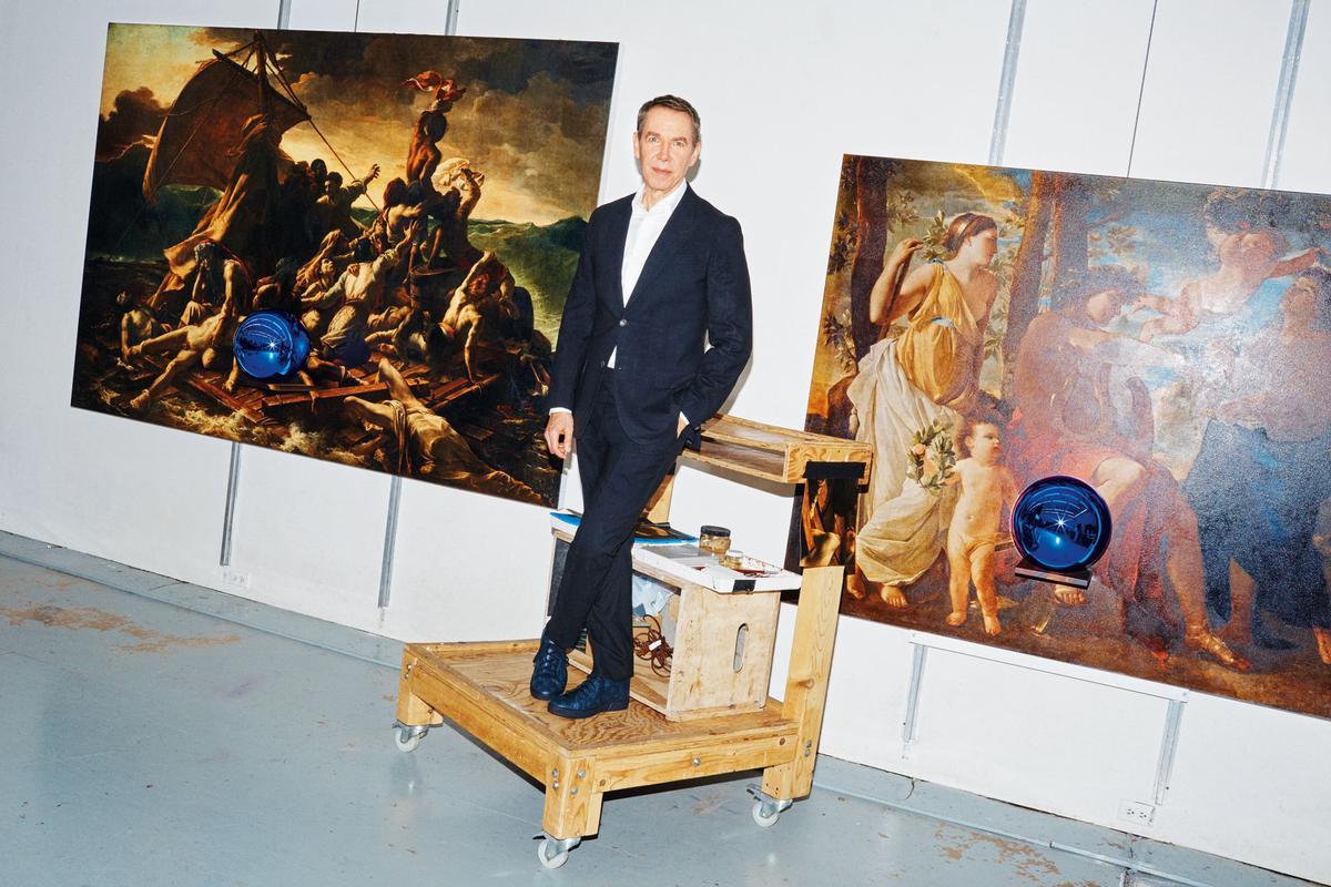 Jeff Koons parmi ses œuvres dans son atelier new-yorkais. Photo: Lewis Mirret