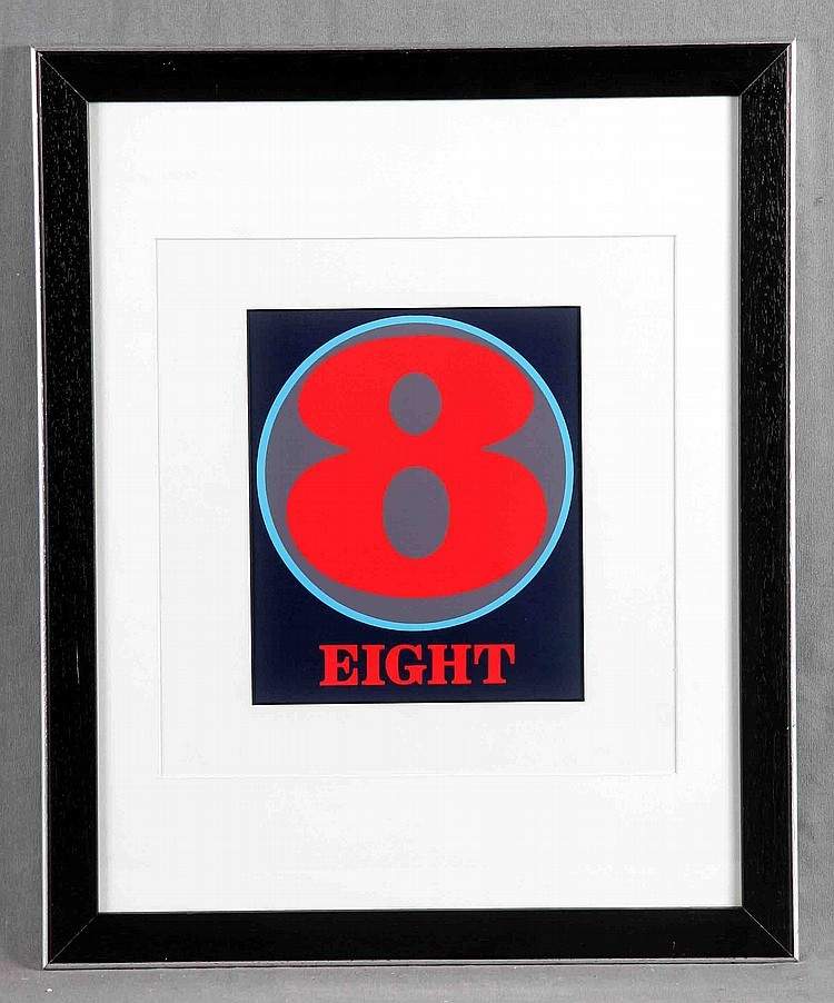 "ROBERT INDIANA - ""Number Eight"", Farblithografie, signiert"