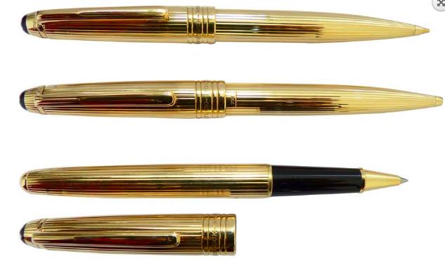Montblancpennor i gult guld, 18k.