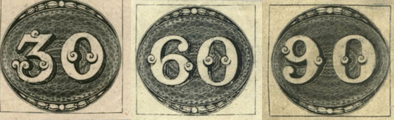 L'Œil de Bœuf (Olho-de-boi en portugais) est le nom donné aux premiers timbres de la poste du Brésil, émis le 1er août 1843