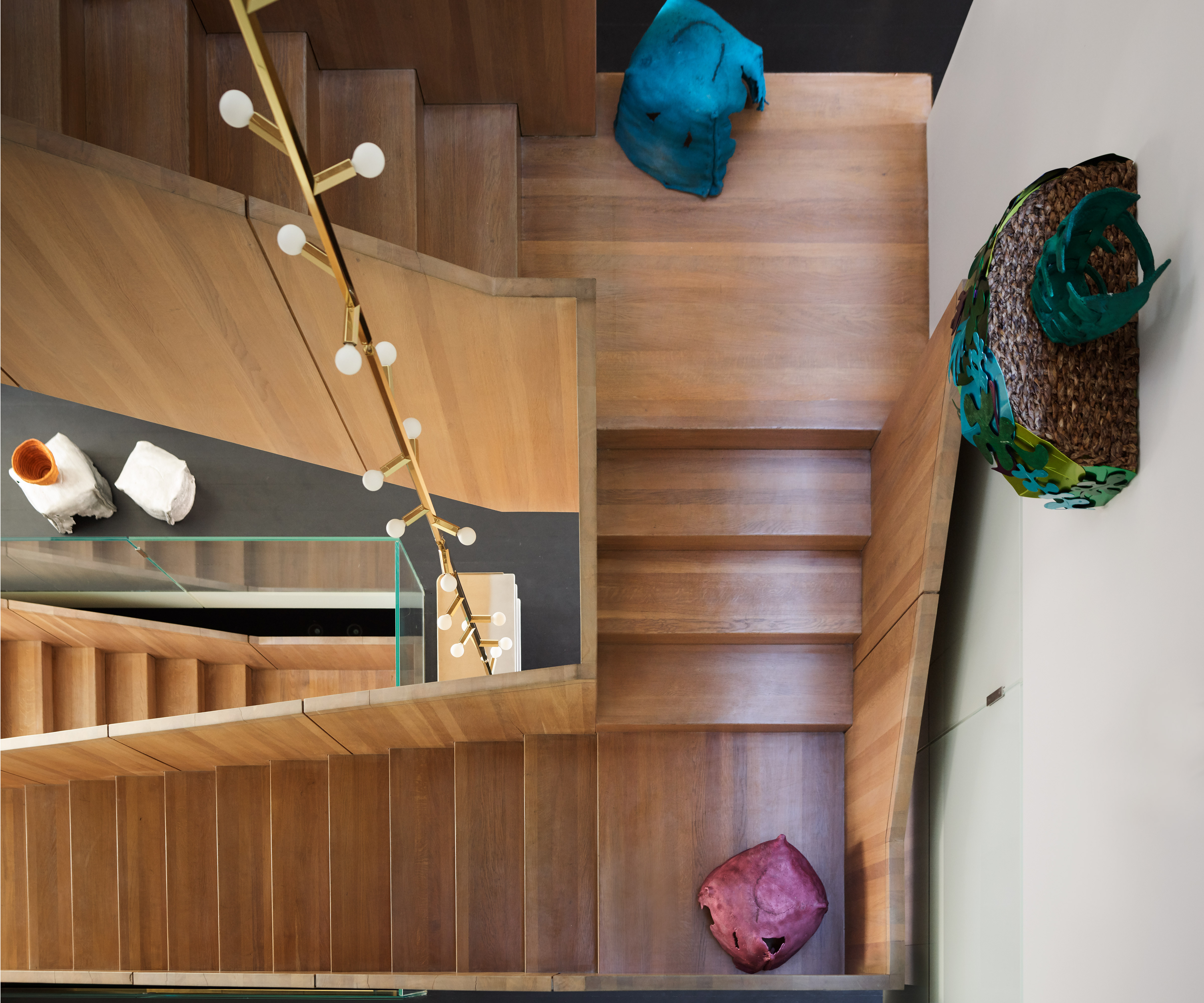 The David Chipperfield-designed staircase in Casa Perfect New York. Image: Douglas Friedman