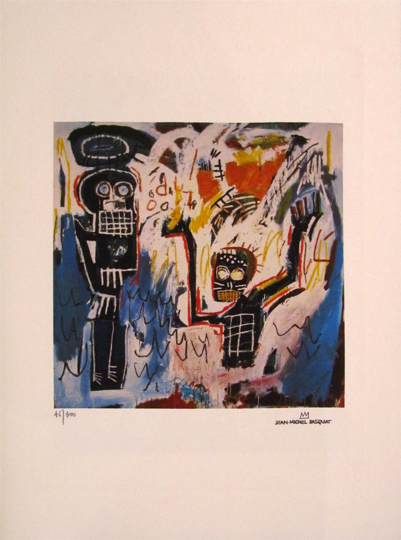 "Jean Michel Basquiat: ""Ángel"" 45/300. Subasta Real"