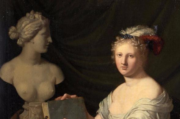 """Horatius PAULIJN (Amsterdam 1644 - 1701), """"Allégorie du dessin"""" Détail de l'oeuvre"""