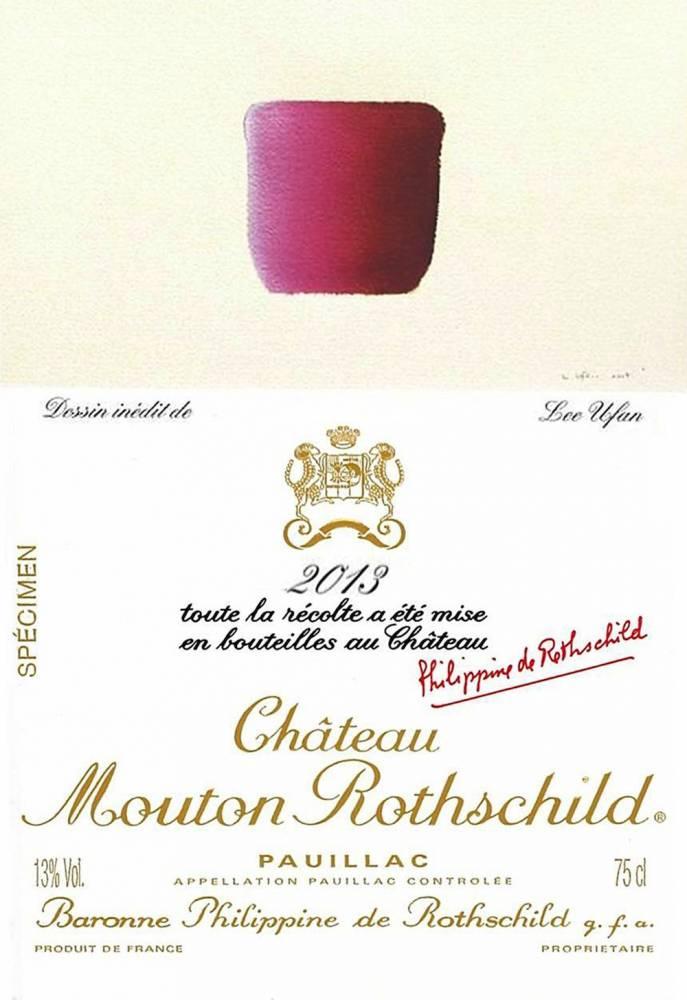 Etiquette du château Mouton Rothschild 2013 © Château Mouton Rothschild