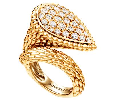 Bague serpent en or 18 carats et diamants par Boucheron