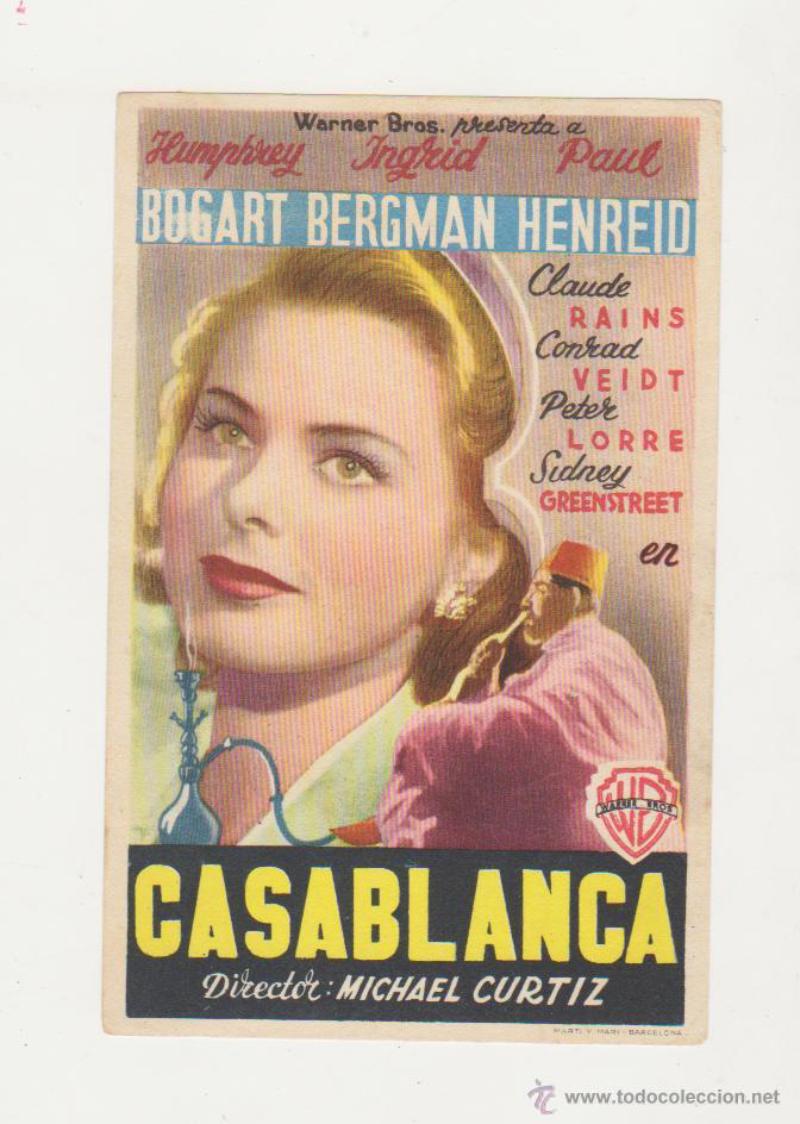 Broshyr, Casablanca Fast pris: 70 SEK Pliego Coleccionismo