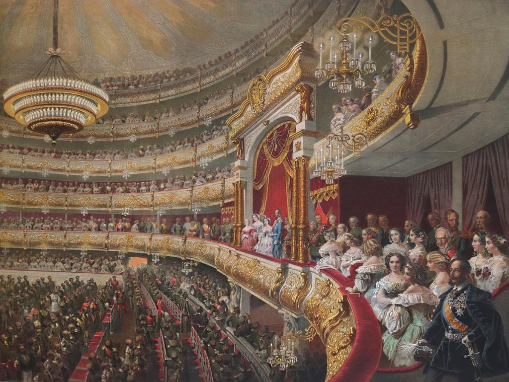 Zu den Festlichkeiten nach der Krönung gehörten auch Aufführungen im Moskauer Bolshoi-Theater