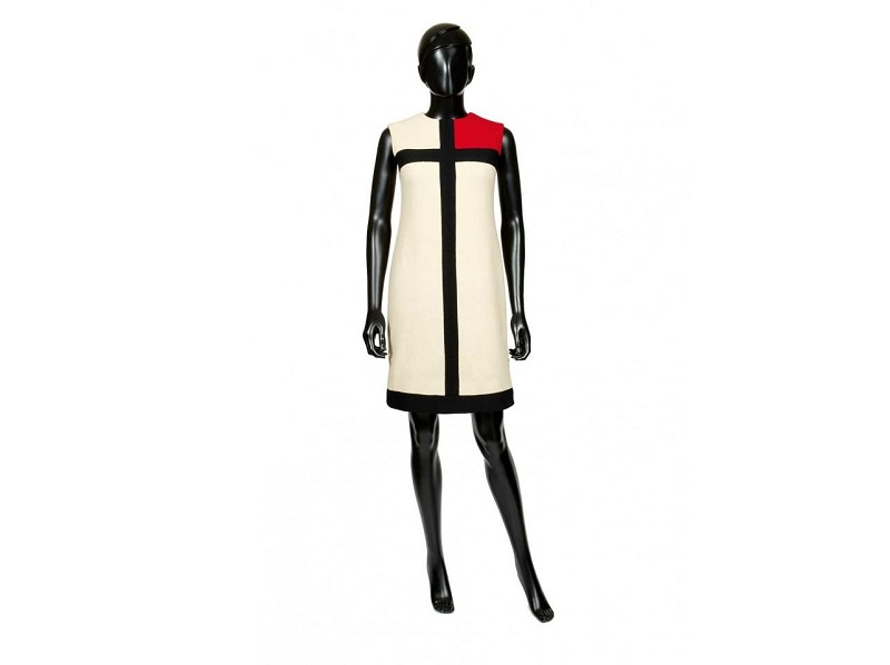 Vestido Mondrian de Yves Saint Laurent. Fotografía del Museo Municipal de La Haya