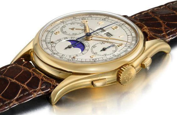 Philippe Patek, montre à calendrier perpétuel en or 18 carats, image via Christie's