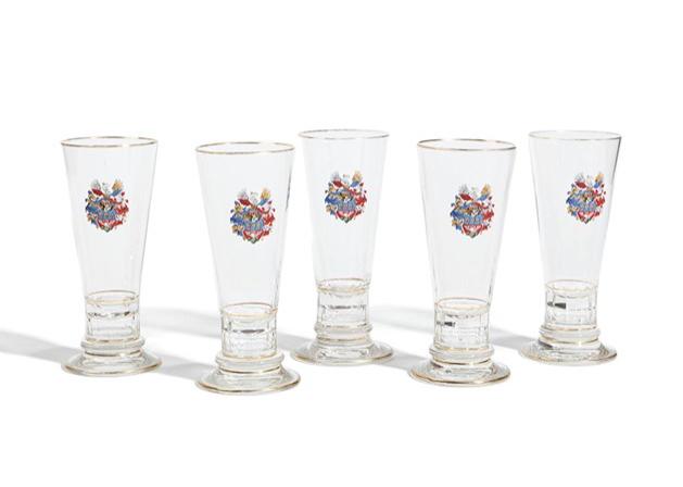 Five Beer Glasses, Lobmeyr Glass Manufacture, Vienna, 19th C.. Schätzpreis: 1 300 EUR. Auctionata