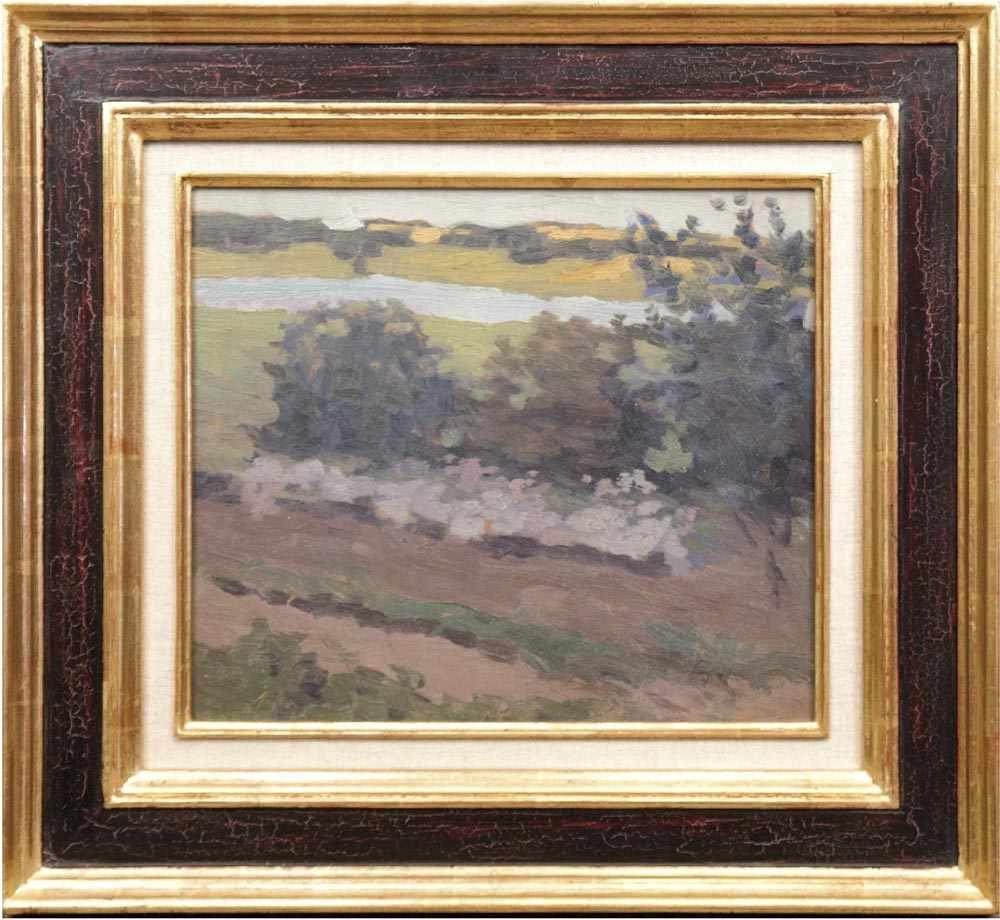 JOHANN WALTER-KURAU (1869 Jelgava - 1932 Berlin) - Flusslandschaft, Öl/SH, Nachlassstempel