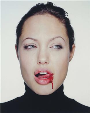 Angelina Jolie with Blood, 2003  MARTIN SCHOELLER (b. 1968)