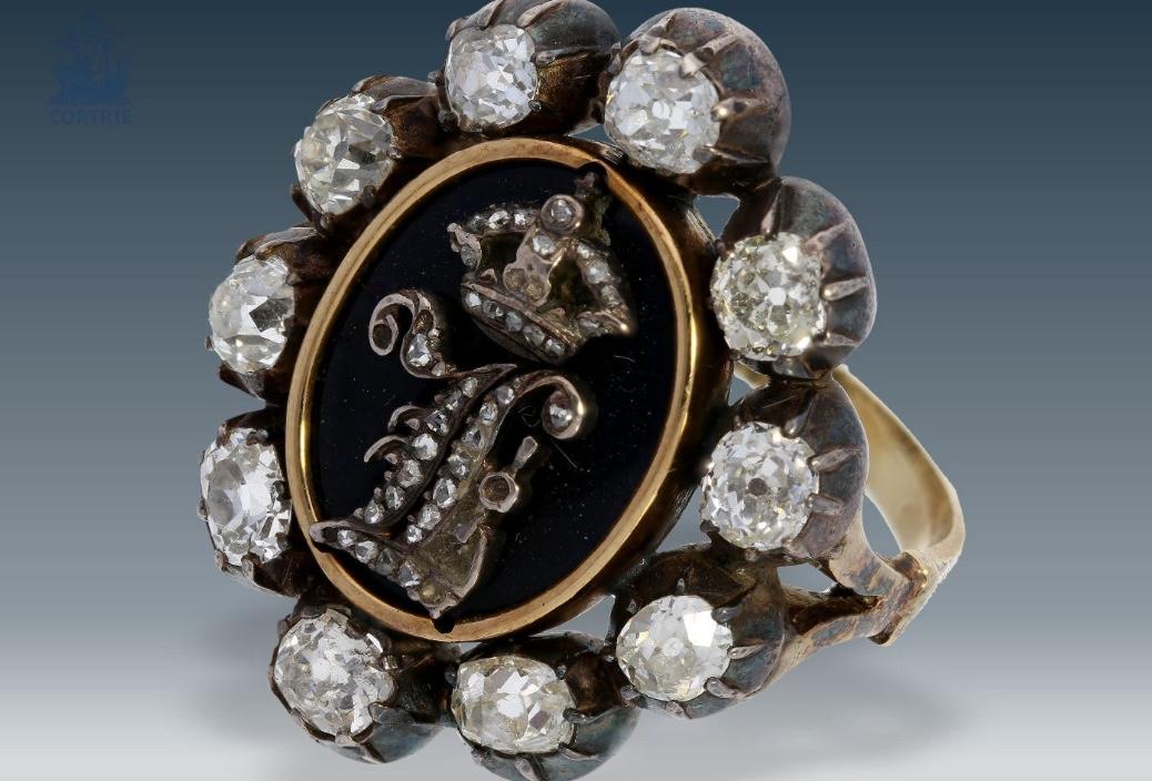 Ring mit den Initialen von König Leopold I. von Belgien als Geschenk an Hoffmann von Fallersleben