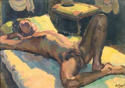 Reclining Male Nude av Duncan Grant. Bild via Pinterest
