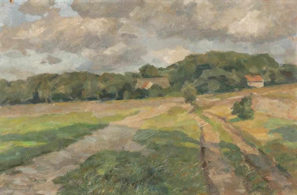 KARL KRUMMACHER (1867 Elberfeld - 1955 Worpswede) - Am Weyerberg, Öl/Hartfaser, 42,5x65,5 cm, signiert Aufrufpreis: 800 EUR