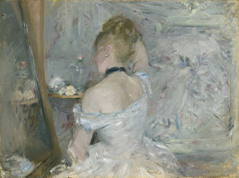 Berthe Morisot, « Femme à sa toilette », 1875, image ©The Art Institute of Chicago