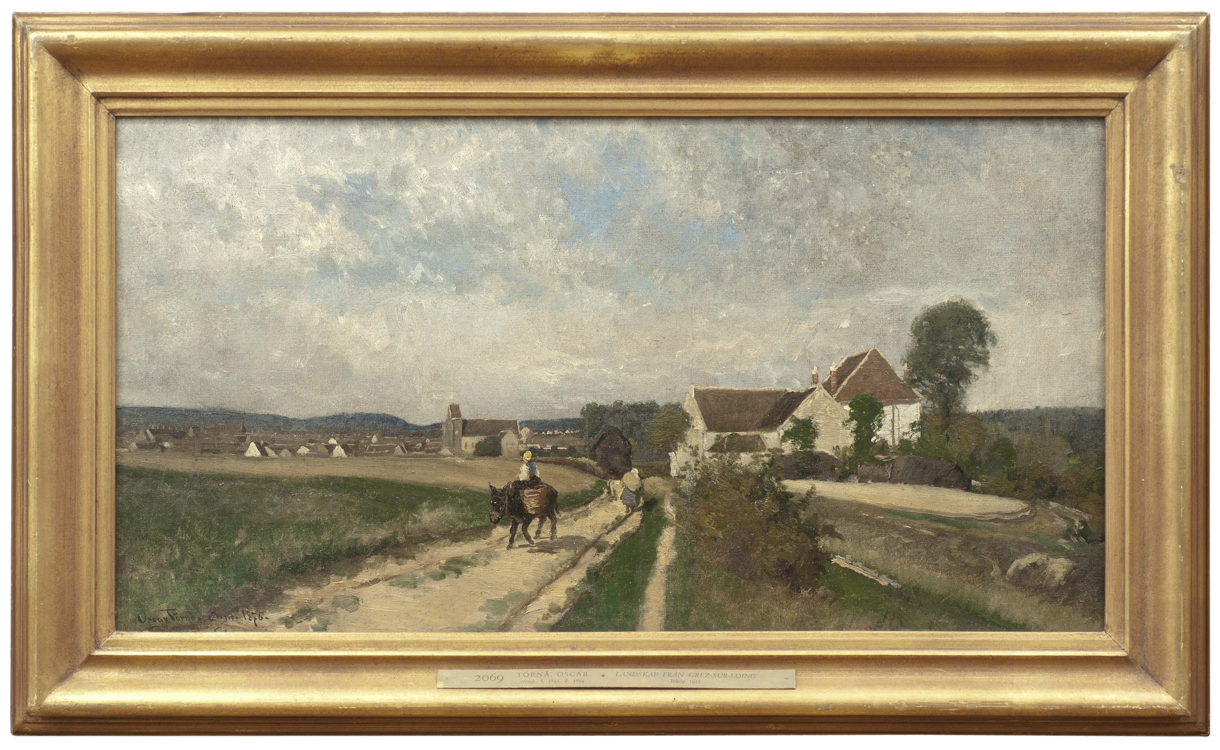 Oscar Törnå, Landskap från Grez-sur-Loing, 1876, olja på duk. Foto: Nationalmuseum